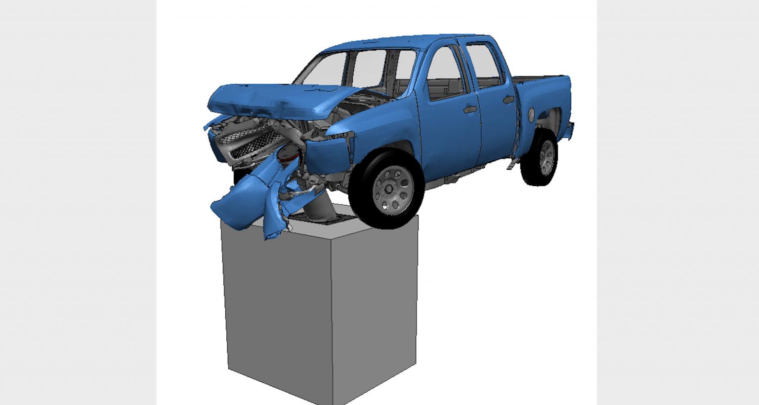 Impact of pick-up truck on bollard – IWA 14-1/2013 standard