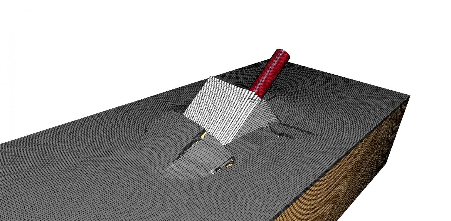 Prise en compte de la modélisation du sol pour dimensionnement du massif.